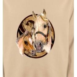 Sweatshirts Cheval Têtes de chevaux (R)