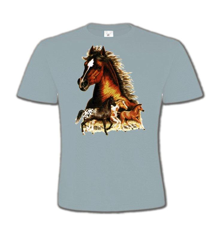 T-Shirts Col Rond EnfantsChevalChevaux (F)