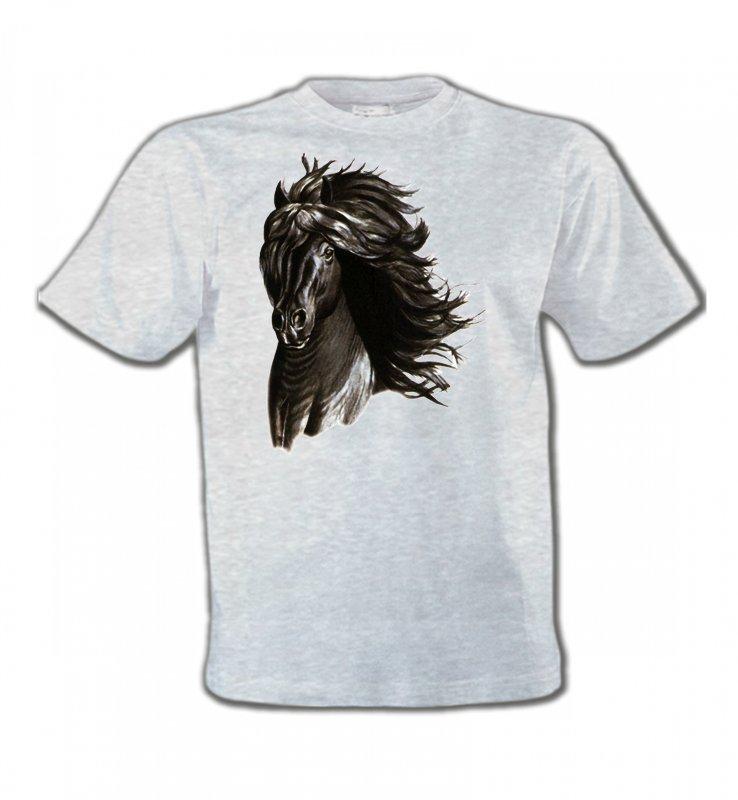 T-Shirts Col Rond EnfantsChevalCheval noir
