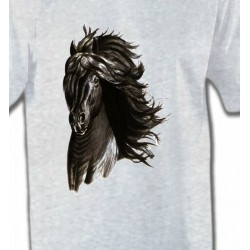 T-Shirts Cheval Cheval noir