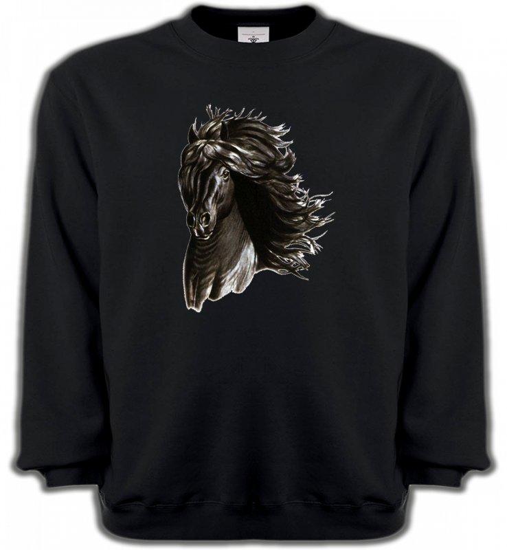 Sweatshirts UnisexeChevalCheval noir