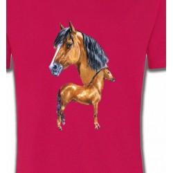 T-Shirts Cheval Cheval brun (X)