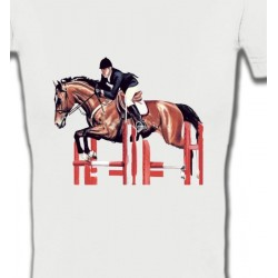 T-Shirts Cheval Cheval d'equitation