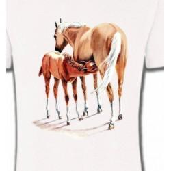 T-Shirts Cheval Cheval et poulain