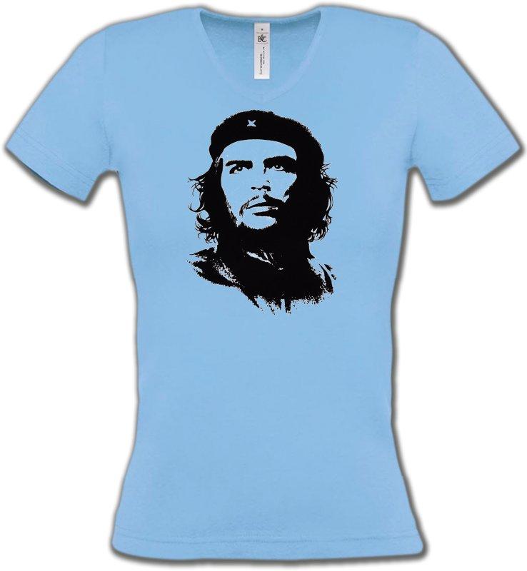 T-Shirts Col V FemmesCélébritésChe Guevara