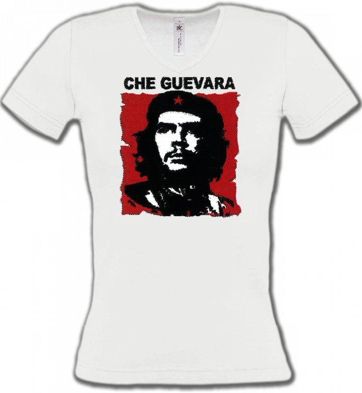 T-Shirts Col V FemmesCélébritésChe Guevara (U)
