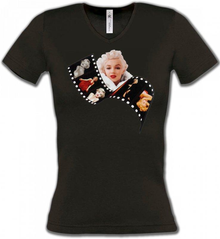 T-Shirts Col V FemmesCélébritésMarilyn Monroe