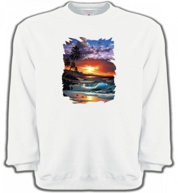 Sweatshirts UnisexeNature et paysagesCoucher de soleil à la plage (S)