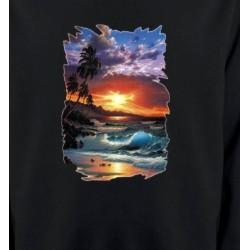 Sweatshirts Nature et paysages Coucher de soleil à la plage (S)
