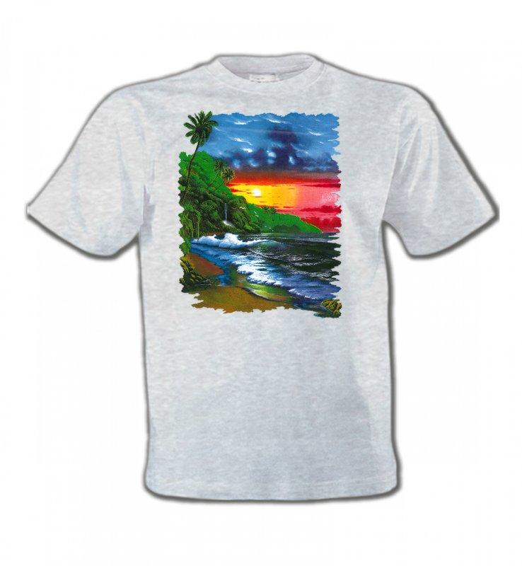 T-Shirts Col Rond EnfantsNature et paysagesCoucher de soleil sur la mer