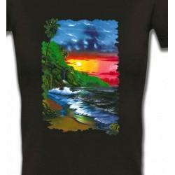 T-Shirts Nature et paysages Coucher de soleil sur la mer