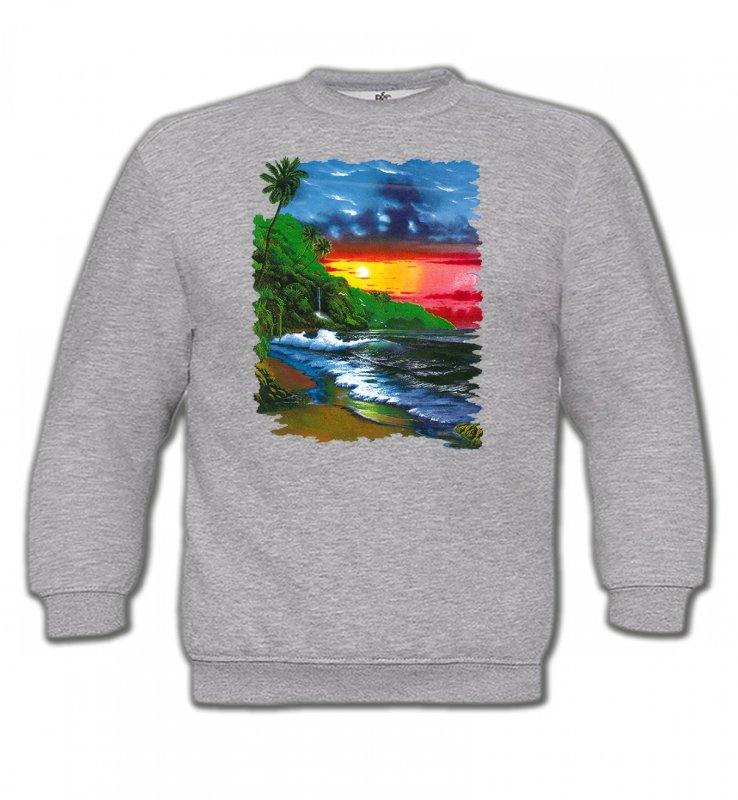 Sweatshirts EnfantsNature et paysagesCoucher de soleil sur la mer