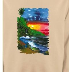 Sweatshirts Nature et paysages Coucher de soleil sur la mer
