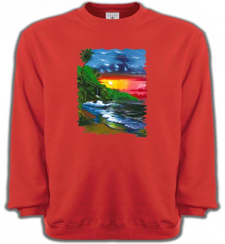 Sweatshirts UnisexeNature et paysagesCoucher de soleil sur la mer