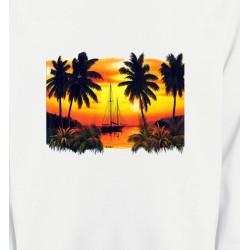 Sweatshirts Nature et paysages Coucher de soleil sous les palmiers
