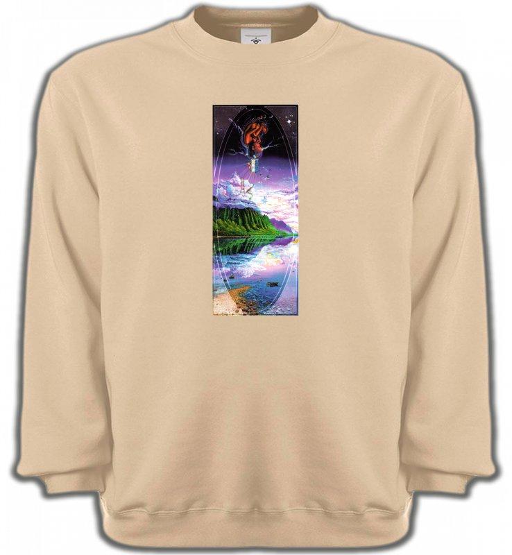 Sweatshirts UnisexeNature et paysagesPsychédélique