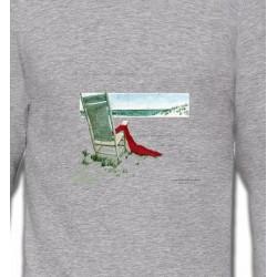 Sweatshirts Nature et paysages Chaise à la plage