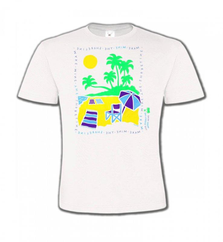 T-Shirts Col Rond EnfantsNature et paysagesPlage dessin