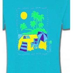 T-Shirts Nature et paysages Plage dessin