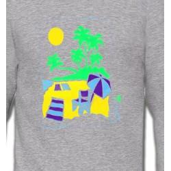 Sweatshirts Nature et paysages Plage dessin