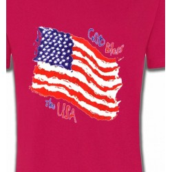 T-Shirts Politique et croyances Drapeau God bless the USA