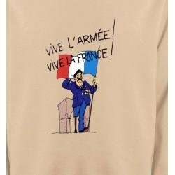 Sweatshirts Humour/amour ancien combattant  Vive la France  (C)