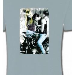 T-Shirts Fleurs/Romantique Le romantisme à moto