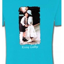 T-Shirts Fleurs/Romantique Deux enfants bisou