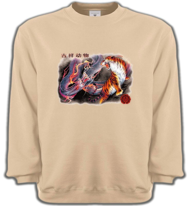 Sweatshirts UnisexeDragonsDragon et Tigre (U4)