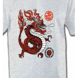T-Shirts Dragons Dragon rouge chinois (H2)