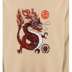 Sweatshirts Signes astrologiques Dragon rouge chinois (H2)