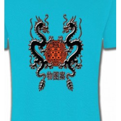 T-Shirts Signes astrologiques Dragons noirs chinois (A4)