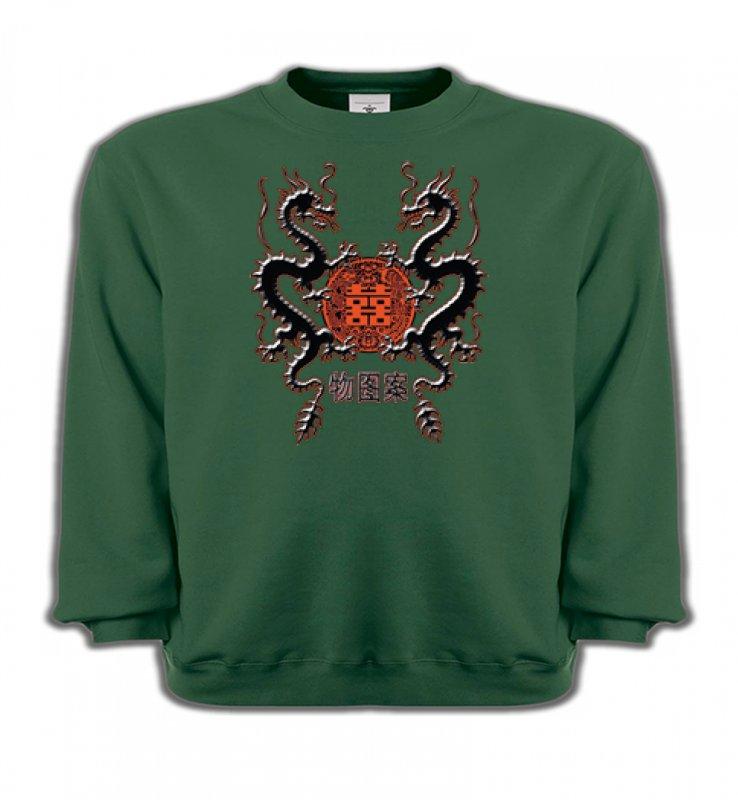 Sweatshirts EnfantsSignes astrologiquesDragons noirs chinois (A4)