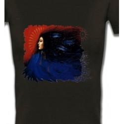 T-Shirts T-Shirts Col V Femmes Indienne (I)