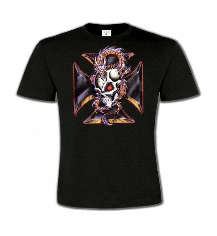 T-Shirts Col Rond EnfantsDragonsDragons et Croix de Choppers (Z2)