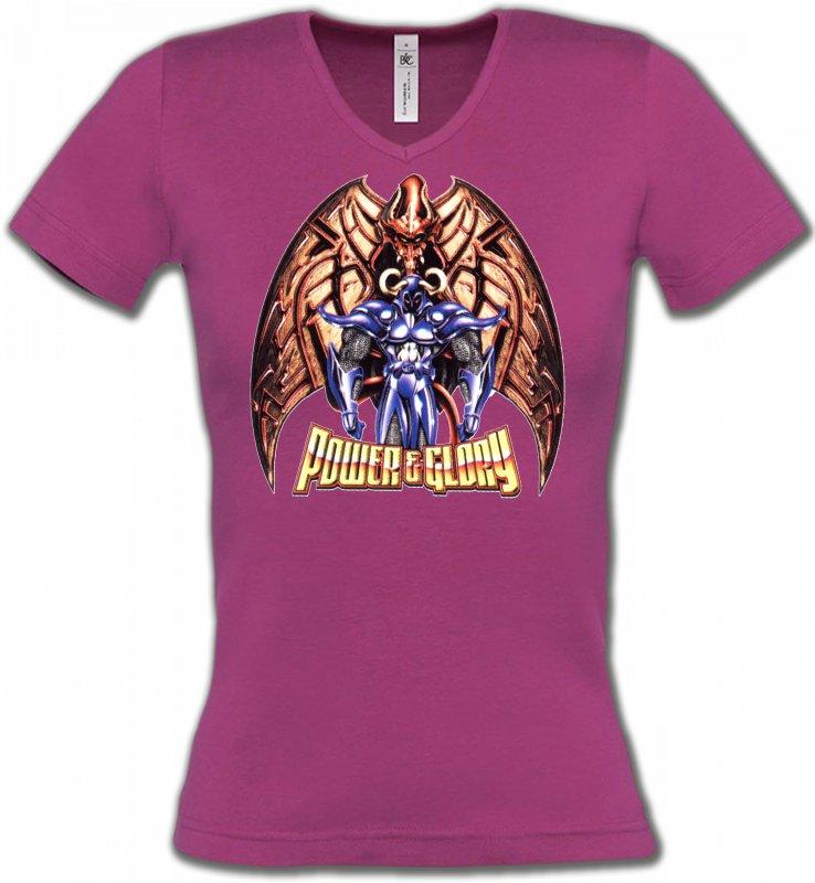 T-Shirts Col V FemmesDragonsDragon Gargouille (R2)