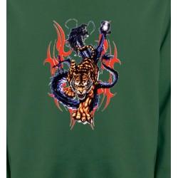 Sweatshirts Dragons Dragon bleu et Tigre (E4)