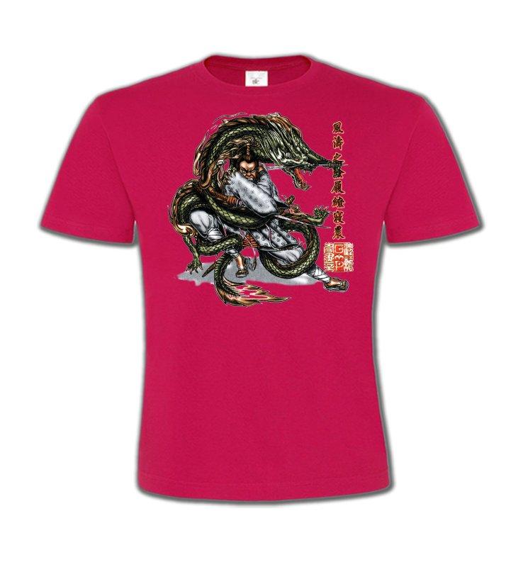 T-Shirts Col Rond EnfantsSignes astrologiquesDragon et Samouraï (V3)
