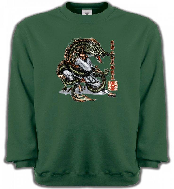 Sweatshirts UnisexeSignes astrologiquesDragon et Samouraï (V3)