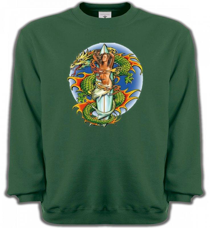 Sweatshirts UnisexeDragonsDragon vert (X3)