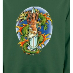Sweatshirts Dragons Dragon vert (X3)
