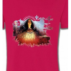 T-Shirts T-Shirts Col Rond Unisexe Indienne prière (X)