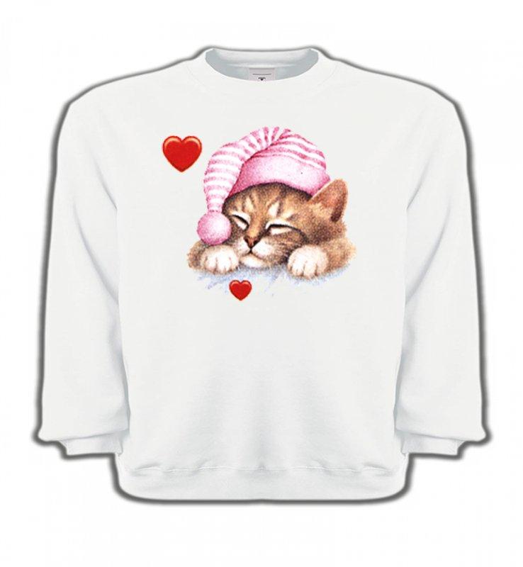 Sweatshirts EnfantsRaces de chatsChaton avec bonnet rose (S2)
