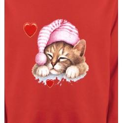 Sweatshirts Races de chats Chaton avec bonnet rose (S2)