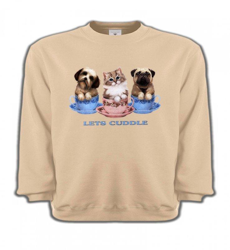 Sweatshirts EnfantsRaces de chatsChatons et Chiots (M)