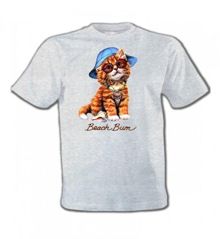 T-Shirts Col Rond EnfantsRaces de chatsChaton tigré roux  (W)