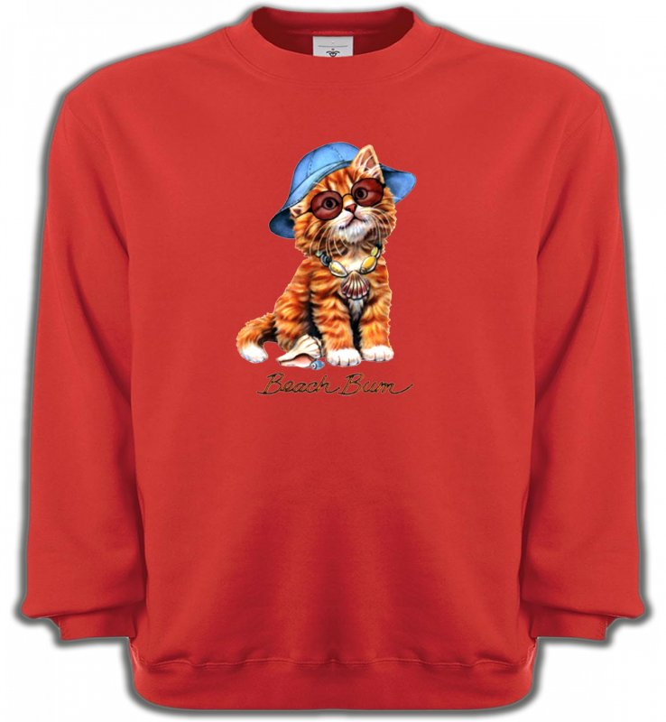 Sweatshirts UnisexeRaces de chatsChaton tigré roux  (W)