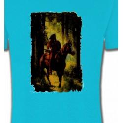 T-Shirts T-Shirts Col Rond Enfants Indien dans la forêt (L)