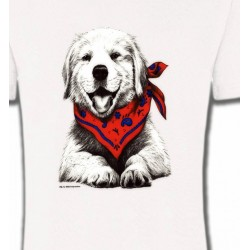 T-Shirts Enfants Golden Retriever Chiot Blanc (C2G)