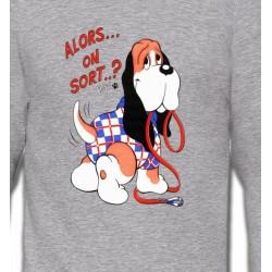 Sweatshirts Humour/amour Basset Hound Humour (F)